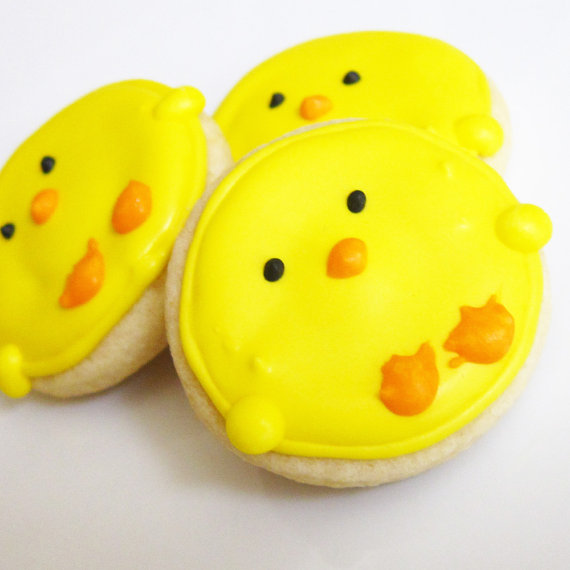 Easter chicks spring cookie