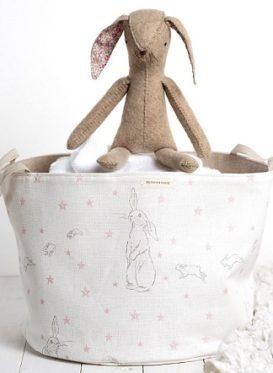 Toy basket in rabbit