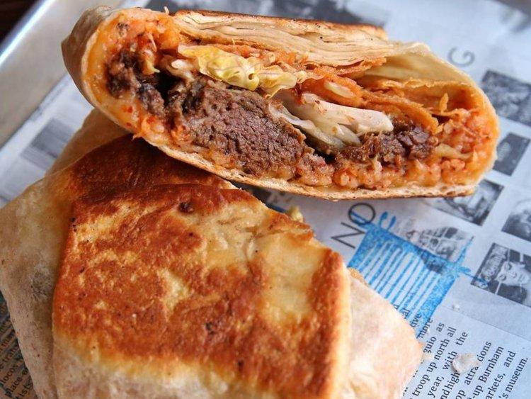 A burrito from Flip Sigi