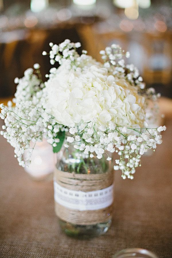 Wedding burlap lace & centerpieces