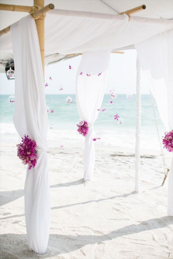 Adorable wedding beach arches