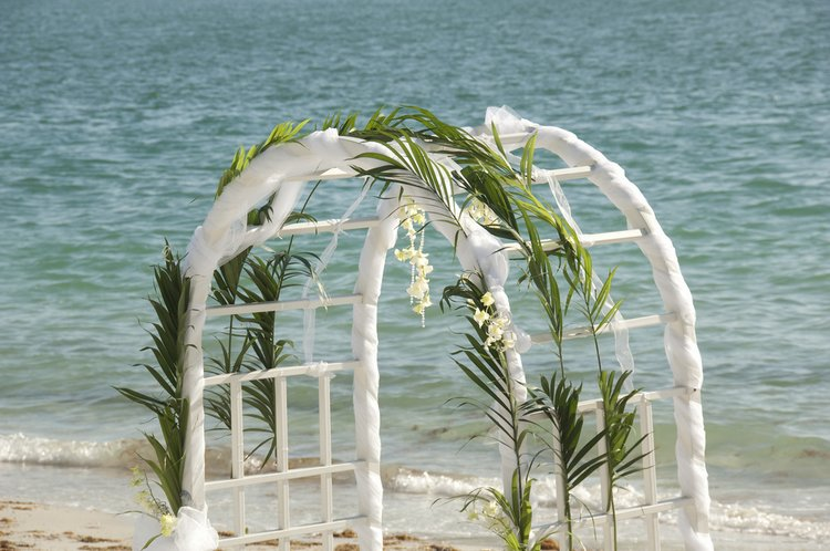Wedding decorations arch beach