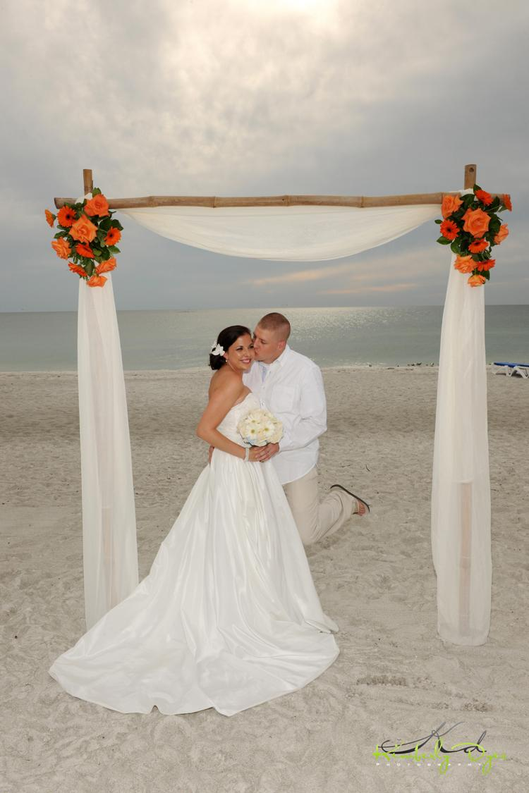 Sea shells wedding arch
