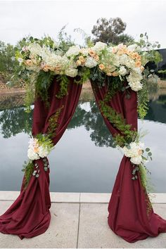 Wedding marsala arch