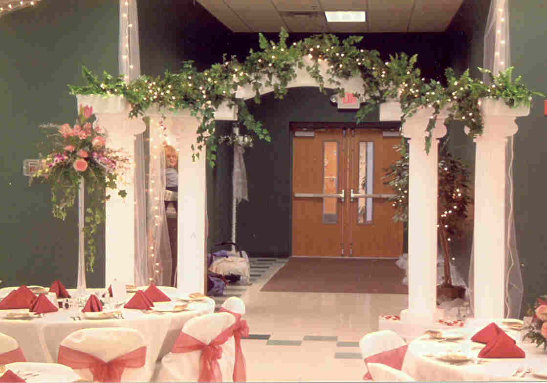 Wedding arch candyland decoration