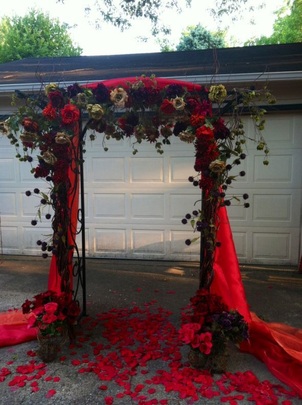 Sunflower fall weddings arches