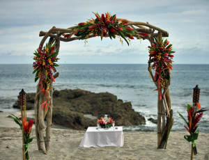 Ceremony beach arch