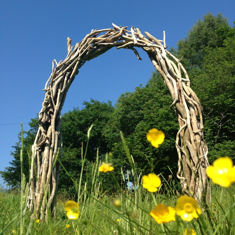Wedding driftwood arch