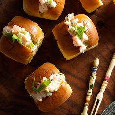 Shrimp mini appetizers rolls