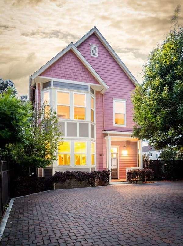 Pinkish purple cottage