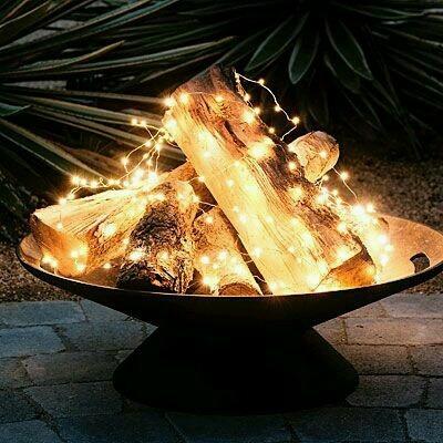 Summer fire using lights