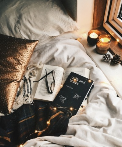 Books and candels