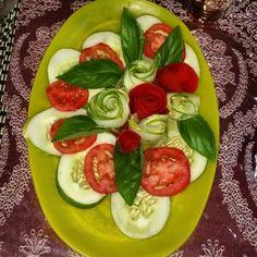 Pretty salad arrangement
