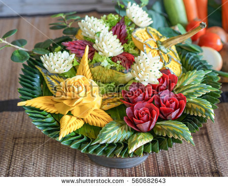 Salad Decoration & Fruit Carvings