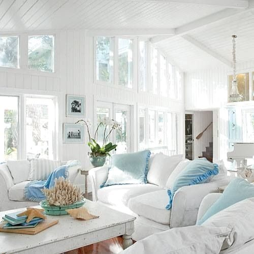 White and Sea Blue accents.