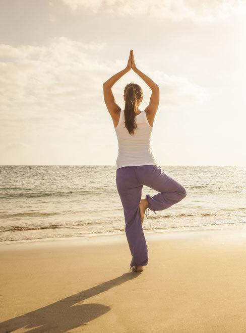 Yoga on the beach in fabulous!