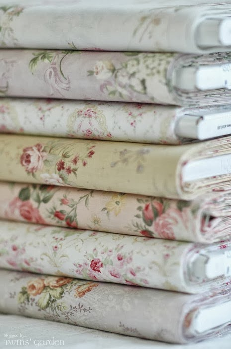 A garden of flowered sheets