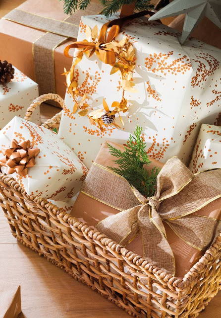 Butterscotch holiday wrapping theme
