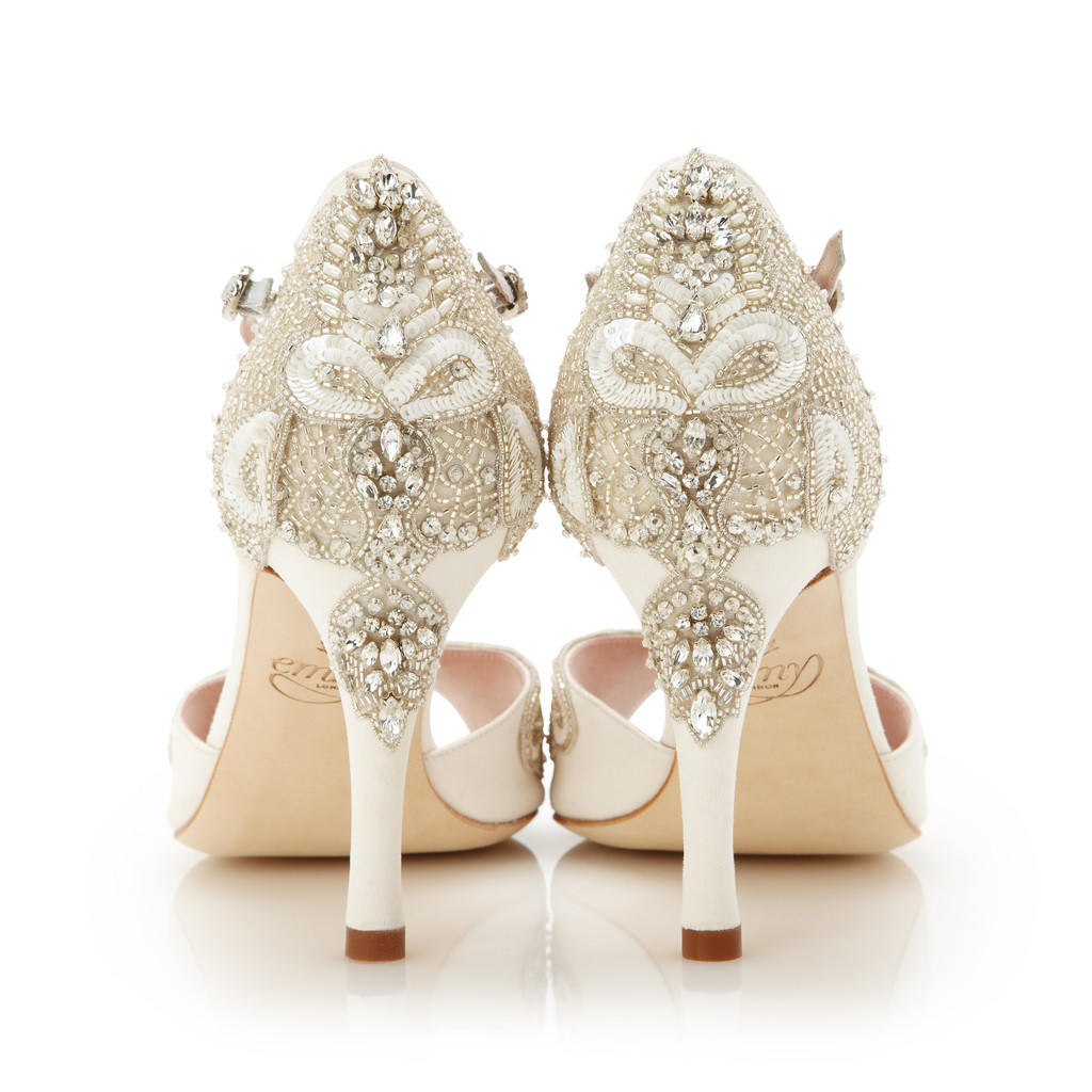 Ornate bridal wedding shoes