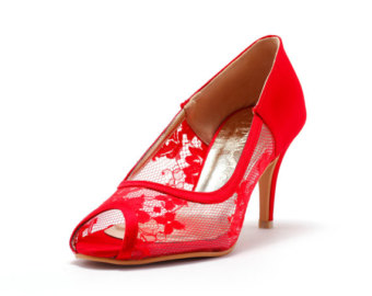 Wedding lace red heel