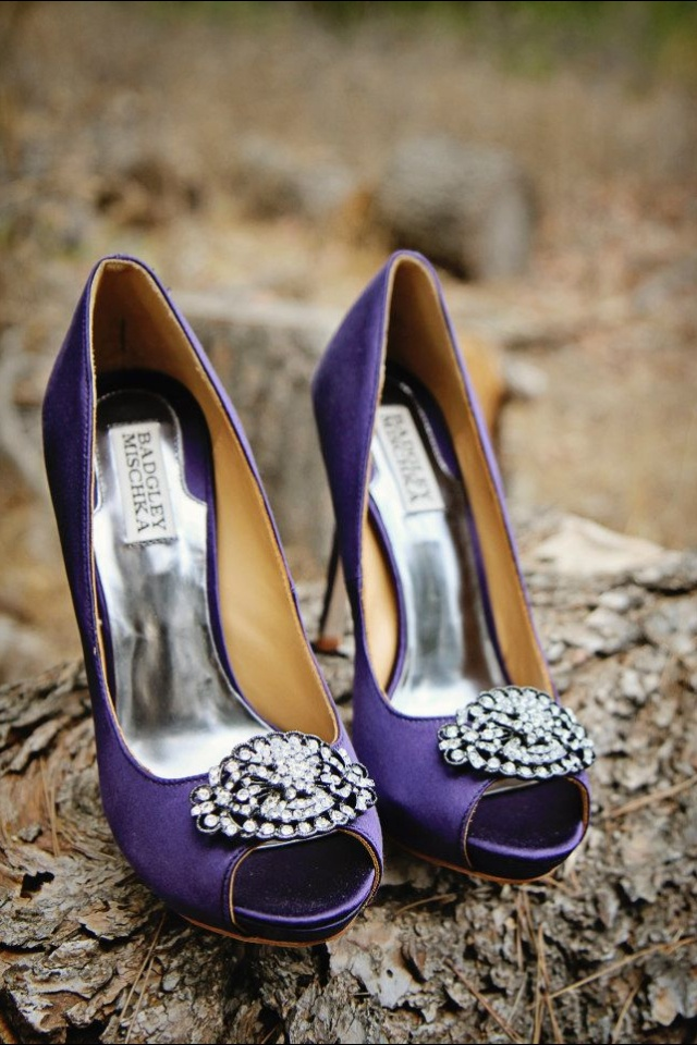 Sparkle purple wedding shoes