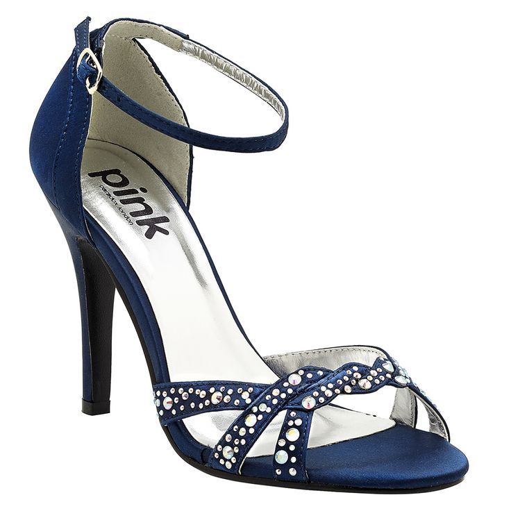 Navy blue bridal shoes