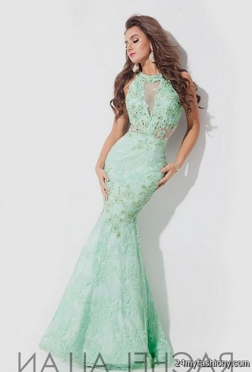 Mermaid mint wedding dress