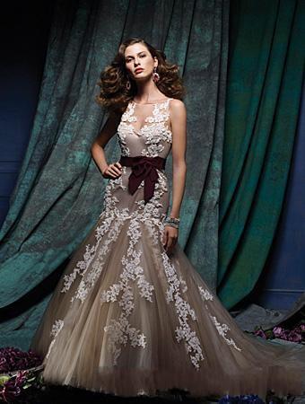 Purple dresses wedding mermaid