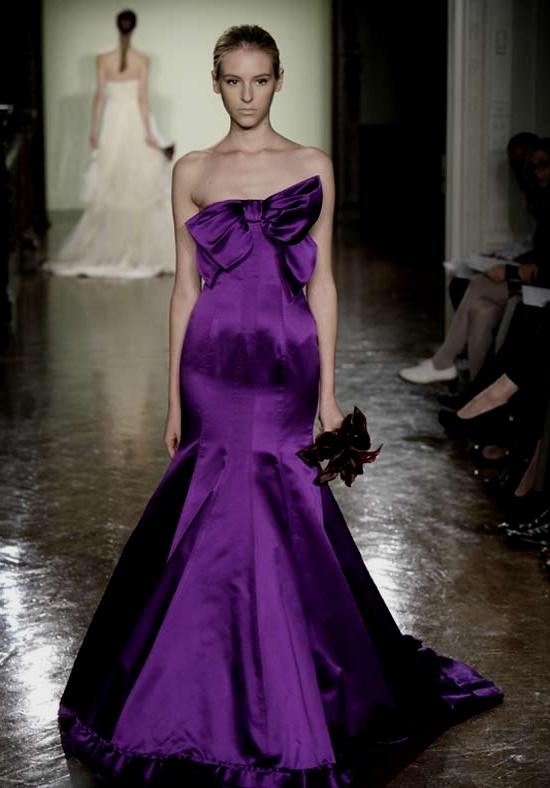 Purple wedding dresses for brides