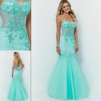 Green mint gowns for bridal .