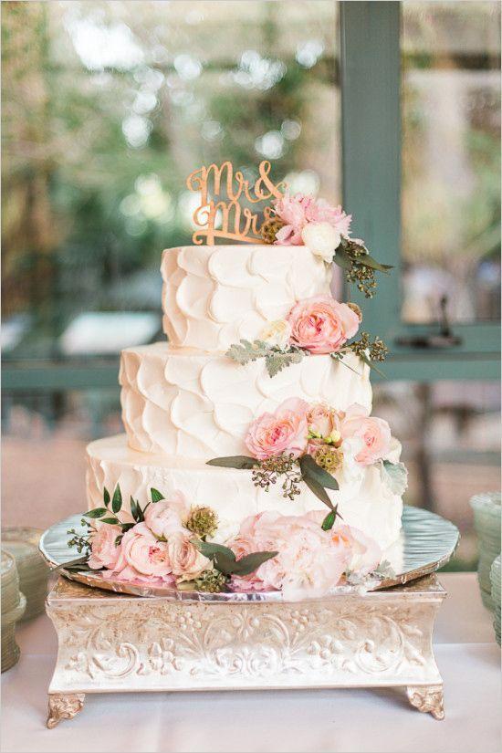 Cake wedding pink vintage garden