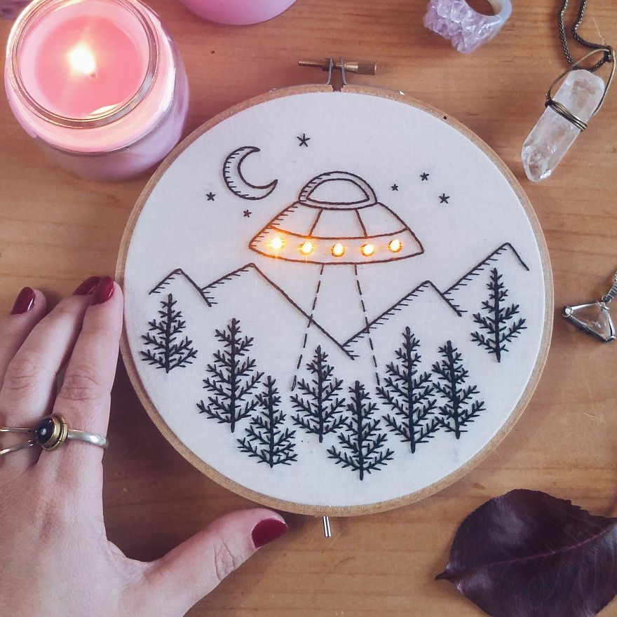 Light up your embroidery