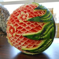 Wow carved watermelon