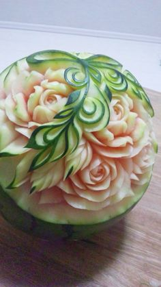 Fruit work carving watermelon