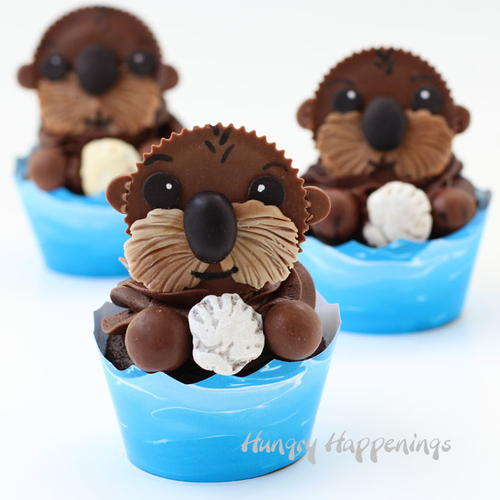 Cupcake kids sea otter for recipe