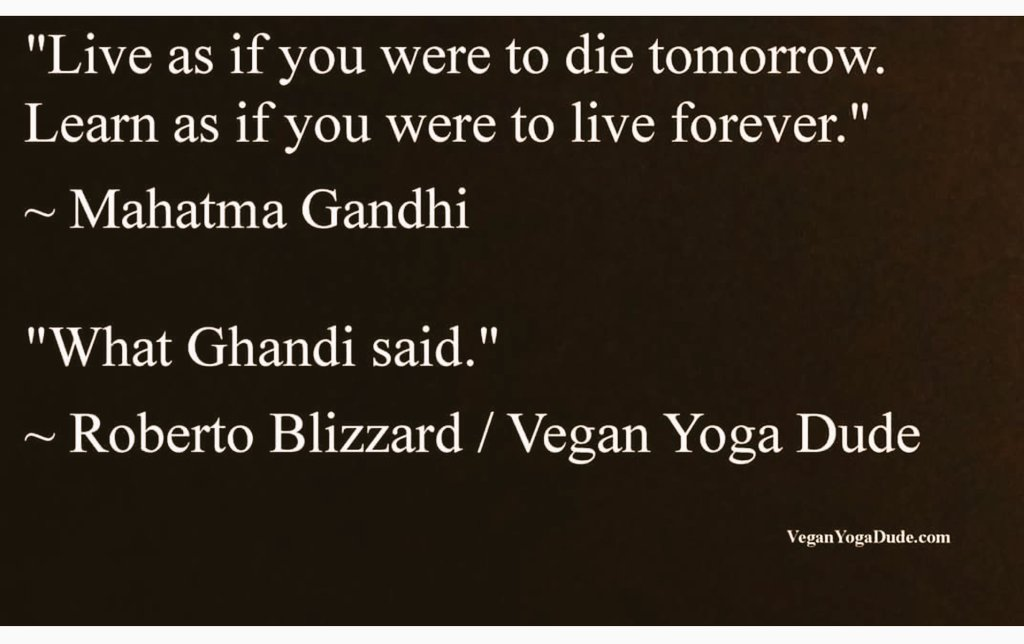 What Gandhi said.
