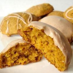 Pumpkin iced cookies