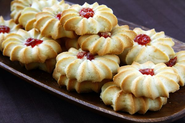 Jam with thumbprint cookies