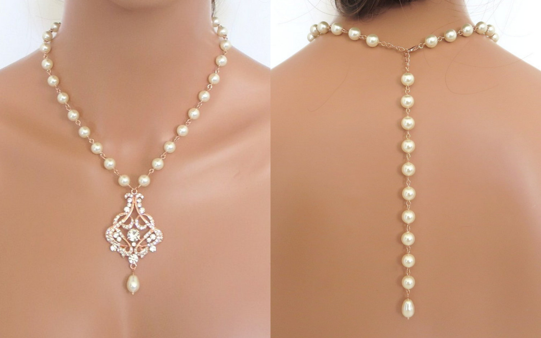 Rose bridal necklace ..