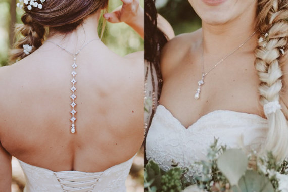 Bridal necklace backdrop gold rose