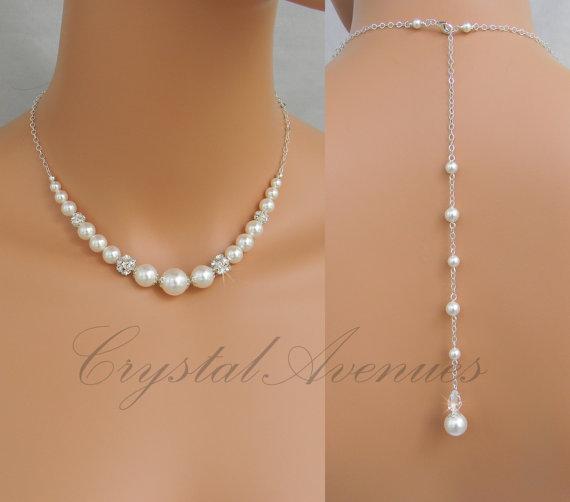 Back drop necklace