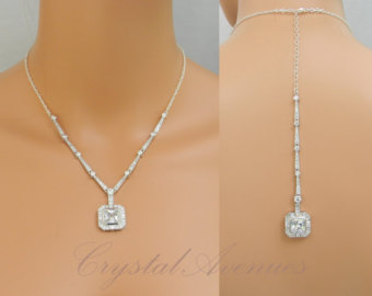 Back drop necklace bridal