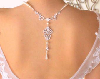 Bridal necklace backdrop