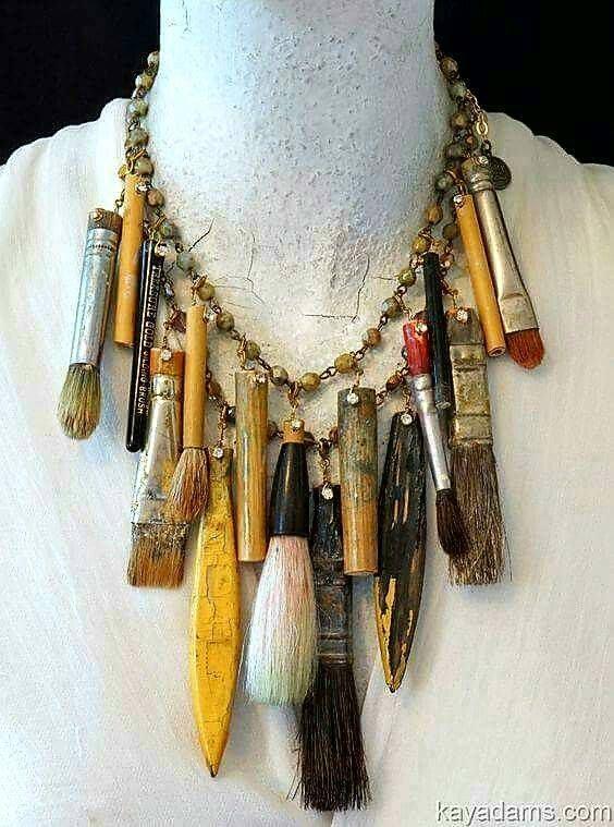 Paint brush necklace
