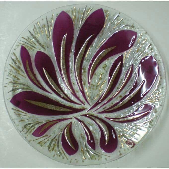 Fused glass tableware