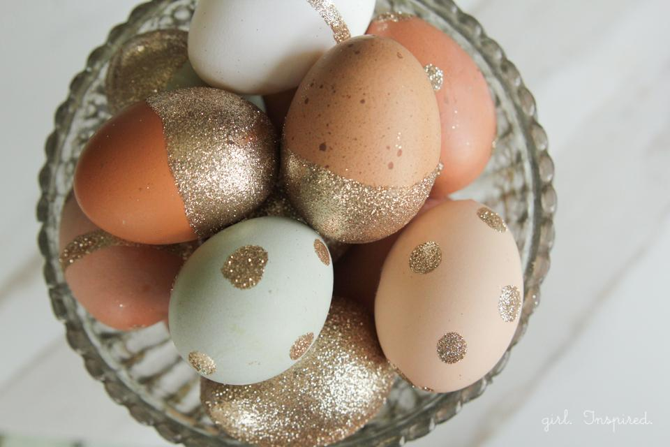 Gorgeous glitter eggs easter