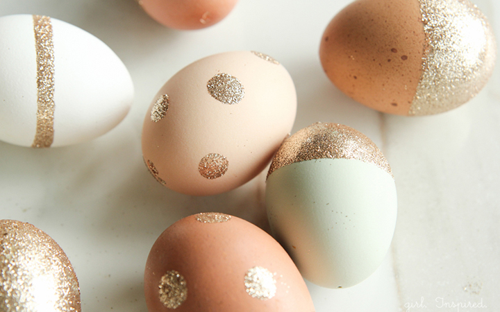 Glitter easter egg decorating ideas