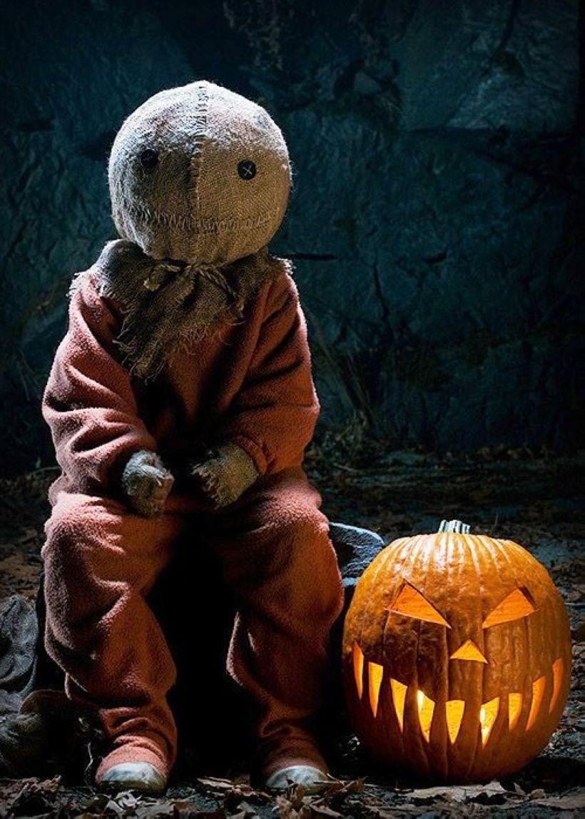 Pumpkin Head Halloween Decoration