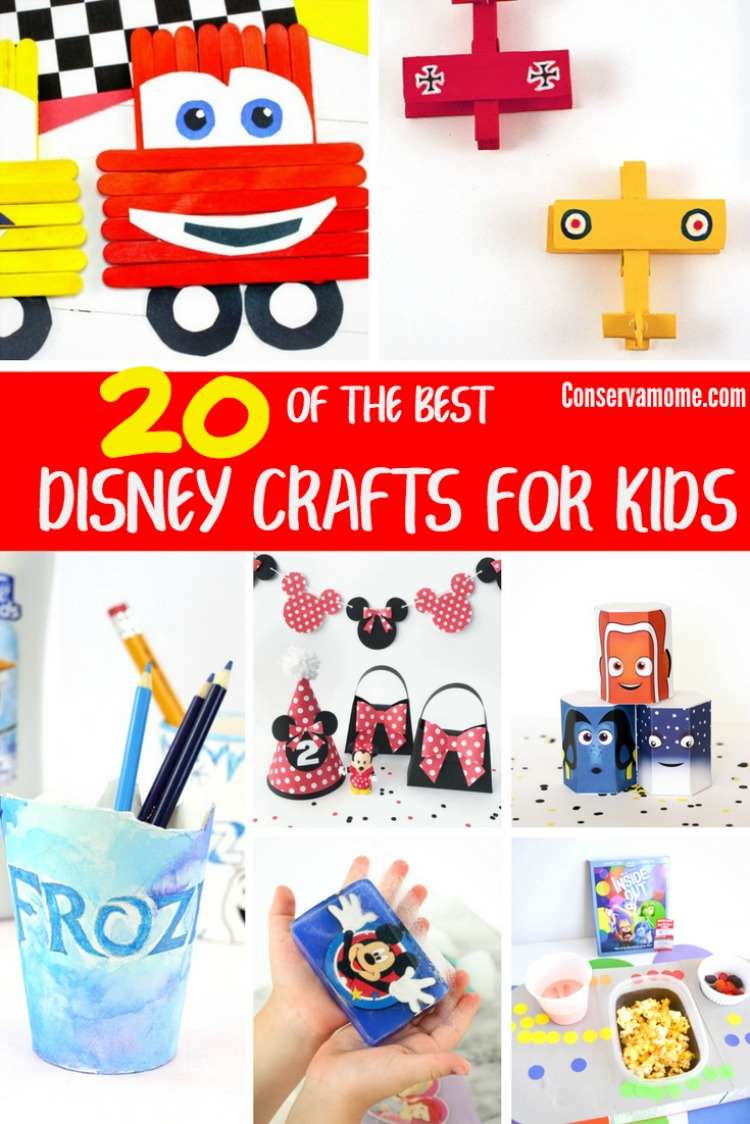 20 Disney  Crafts for Kids