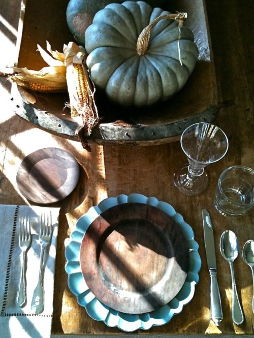 Pewter table setting